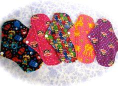 SALE SALE Set of 5 Flannel Cotton/Pul  Pads  by JuliansBoutique