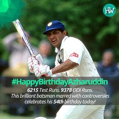 #HappyBirthdayAzharuddin, one of the best batsmen and most controversial of India! #IND #cricket