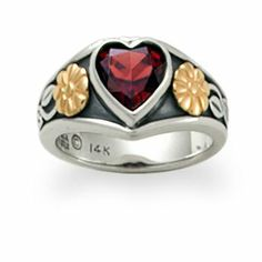 Heart Ring with Garnet: James Avery