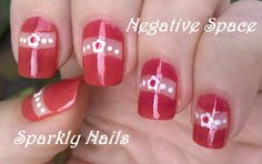 Negative space flower #nailart using French manicure tape - For more easy #naildesigns please visit: https://www.youtube.com/user/LifeWorldWomen