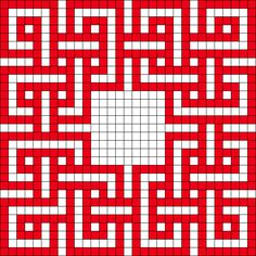Celtic Knot perler bead pattern - would work for quilt layout...
