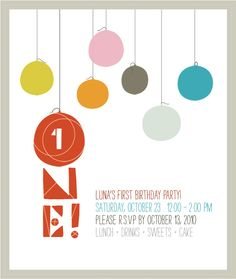 fresh, clean, simple... great invite from 'the new domestic' + u have to how she continued the theme for the party!