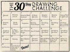 'The 30 Day Drawing Challenge...!' (via Paperblog)