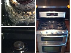 How to Easily Clean the Worst Stovetop.... Baking Soda Salt Vinegar Rubbing Alcohol Wooden Spoon Paper Towels