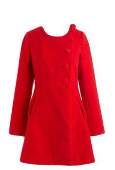 Jackie O inspired red coat via matchbook.