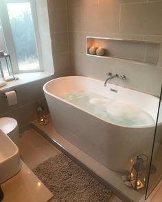 Bathroom inspo - 33 custom bath to inspire your own bathroom remodel 31 Bathroom Inspo, Bathroom Inspiration, Bathroom Ideas, Bathroom Storage, Bathroom Trends, Bathroom Organization, Cosy Bathroom, Bathroom Gray, Restroom Ideas