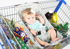 The only way to shopOur comfy cart hammock quickly and easily clips onto most carts, hangs elevated so you have plenty of room for groceries, then simply rolls up to fit in your purse or diaper bag when finished. Most infant car seats sit snugly inside the Shopping Cart Hammock™ and can be secured using the included safety strap.Meets or exceeds all applicable safety standards.Product can be used from birth until a child can sit upright unassisted, up to 50 lbs. Always fasten child…