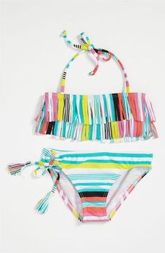 Roxy 'Fringe' Two Piece Swimsuit in both girls' sizes too!! | Nordstrom