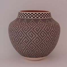 Frederica Antonio Acoma Pottery Jar With Geometric Fine Line Design