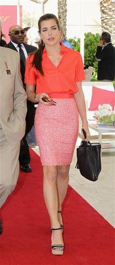 Bright, bold, and on Charlotte Casiraghi (Monaco royalty), effortlessly elegant.