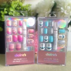 Favourite Buys for November 2015 - Claire s Nail Art Claire's Fake Nails, Claire's Nails, Fake Nails For Kids, Nail Art For Girls, Natural Fake Nails, Short Fake Nails, Stick On Nails, Diy Nails, Cute Nails