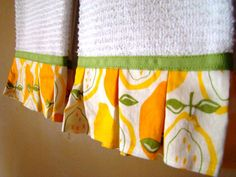 Lemon print kitchen hand towel set by bluewilliowboutique on Etsy, $15.00
