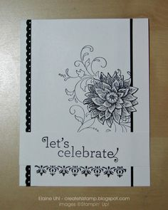 Blacka & white ... Create 'N Stamp with Elaine: Custom: Wedding Shower Invite & Thank You
