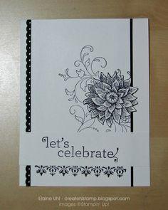 Blacka & white ... Create 'N Stamp with Elaine: Custom: Wedding Shower Invite & Thank You