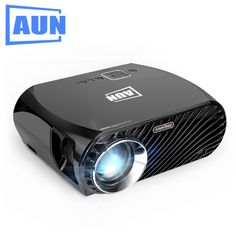 AUN SimpleBeamer Projector GP100, HD Resolution 1280*800, 3200 Lumens LED Projector for Home Theater. Suppor Full HD LED TV