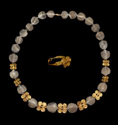Sumerian Necklace and Ring, 2nd Millennium BC A... at Ancient & Medieval History