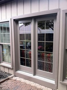 Give your home a modern, contemporary look with Renewal by Andersen of Central Pa's sleek sliding patio doors. Contemporary Patio Doors, Sliding Patio Doors, Wood Interiors, Door Design, Windows, Horn, Ranch, Pine, Natural