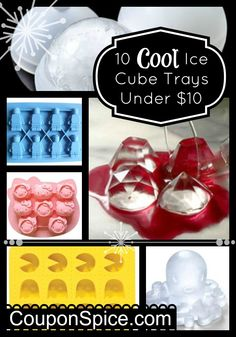 10 Cool Ice Cube Trays Under $10!