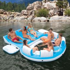 Intex Relaxation Island Inflatable Swimming Pool Lounge Float - 56299CA
