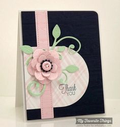 Floral Thank You by strappystamper - Cards and Paper Crafts at Splitcoaststampers
