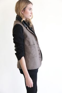 Tweed vest/blazer by Heidi Merrick. #PBperfectsaturday @PoppyBarley x @Caitlin Flemming