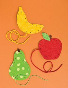 Colorful Fruit Lacing Activities