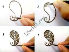 simple henna designs step by step - Google Search