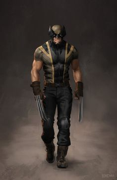 MCU's Wolverine (concept by Tyler Breon). Made by one of the Character Artists from Shadow of War MCU's Wolverine (concept by Tyler Breon). Made by one of the Character Artists from Shadow of War Marvel Dc Comics, Hq Marvel, Marvel Comic Universe, Comics Universe, Marvel Heroes, Dc Comics Women, Marvel Cinematic, Wolverine Cosplay, Wolverine Art