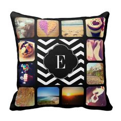 Shop Create Your Own Photo Monogram Cushion created by ECRyan. Personalise it with photos & text or purchase as is! Monogram Pillows, Personalized Pillows, Custom Pillows, Personalized Gifts, Designer Pillow, Pillow Design, Throw Cushions, Decorative Throw Pillows, Create Your Own