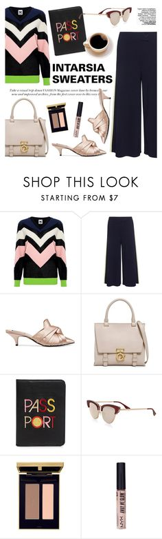 """""""INTARSIA SWEATERS"""" by ifchic ❤ liked on Polyvore featuring M Missoni, Chinti and Parker, N°21, 10 Crosby Derek Lam, Lizzie Fortunato, Le Specs Luxe, Yves Saint Laurent and contemporary"""
