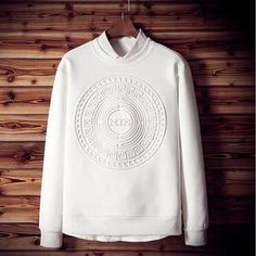 White Casual Pullover