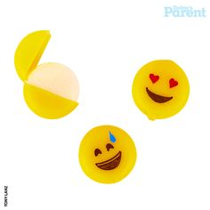 Worlds easiest emoji party treat: DIY emoji cheese treats with Babybel | via Today's Parent