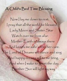 Bed Time blessing