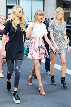 Gigi Hadid, Taylor Swift + Martha Hunt, aka #squadgoals