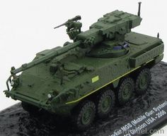 EDICOLA BLINDCOMBAT024 Scale 1/72  CATERPILLAR TANK M1128 STRYKER MGS 2nd INFANTRY DIVISION USA 2006 MILITARY GREEN