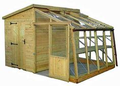 Garden Retreat Pressure Treated Greenhouse & Potting Shed - 12'0 Wide x 11'0 Long (3657 x 3350mm)