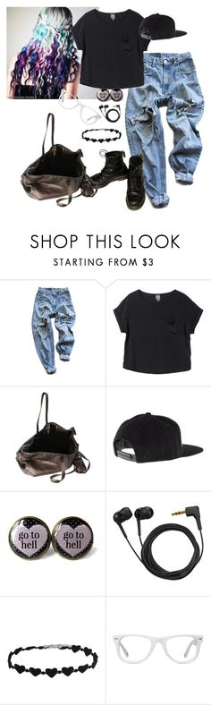 """""""Untitled #896"""" by unicorn1233 ❤ liked on Polyvore featuring Levi's, Monki, Rick Owens, Sennheiser and Muse"""