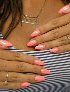 Her nails go perfectly with her skin tone