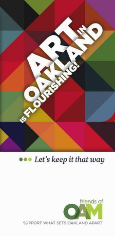 Brochure cover by Buzzplan Designs' Jason Kulp for Friends of Oakland Art Murmur