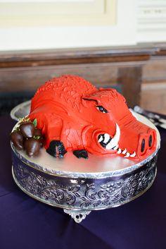 Go Hogs! Arkansas Razorback groom's cake.