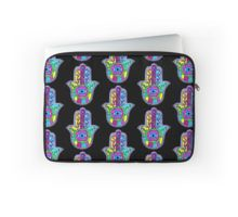 Neon Hamsa Laptop Sleeve by hausofophidia