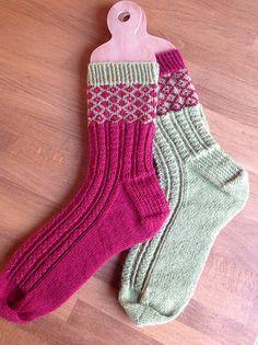 Knitting Patterns Socks Ravelry: Fred & George Socks pattern by Rachel Coopey Diy Knitting Socks, Crochet Socks, Knit Mittens, Lots Of Socks, My Socks, Ravelry, Patterned Socks, Wool Socks, Colorful Socks