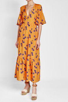 Borgo de Nor Tedora Midi Dress Orange Fashion, Clothes Horse, Short Sleeve Dresses, Orange Style, Shopping, Women, Random, Dressmaking, Clothing