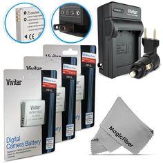 Battery for Canon PowerShot SX260 SX280 SX500 SX510 SX700 HS / 3 NB-6LH Charger