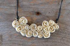 Porcelana rosas poco múltiples A que collar hecha pedido - rosas - declaración collar de