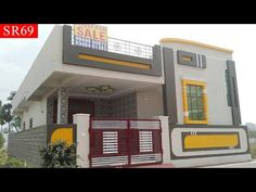 (Soldout) 167 sq yds 2 bhk new independent house for sale at hyderabad Indian House Exterior Design, House Porch Design, House Front Wall Design, Single Floor House Design, House Outside Design, Modern Small House Design, Balcony Railing Design, Minimalist House Design, Front Design