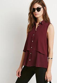 Layered Chiffon Shirt | Forever 21 - 2000172791