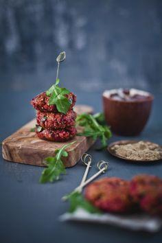 Beetroot Arugula Quinoa Patties | Playful Cooking
