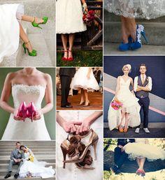 Zapatos de novia de colores. Encuentra todo sobre zapatos de novia en el blog http://losdetallesdetuboda.com/blog/zapatos-de-novia/ Y no te olvides de visitar nuestra tienda online para encontrar las invitaciones de boda y los detalles para los invitados.