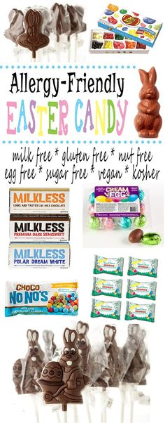 Allergy friendly Easter candy and chocolates for kids who are living with food allergies and dietary restrictions | Glitter 'N' Spice